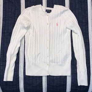 Girls Polo Cable Sweater